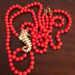 J.Crew seahorse beaded necklace